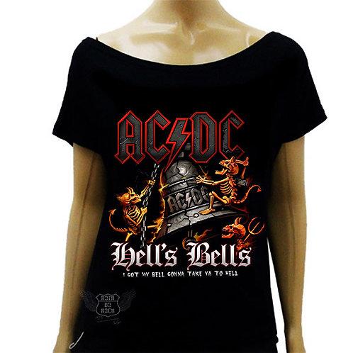 Blusinha Ombro Caído ACDC Hells Bells