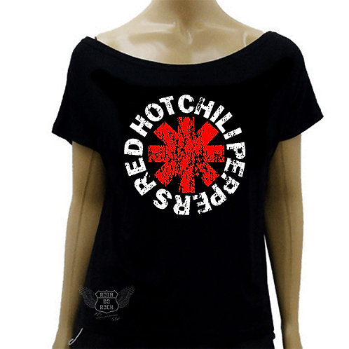 Blusinha Ombro Caído Red Hot Chilli Peppers