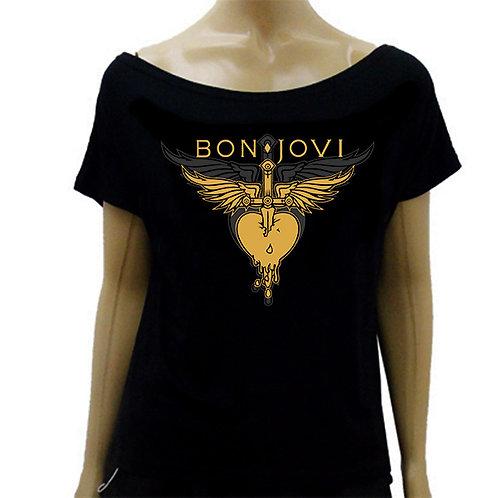 Blusinha Ombro Caído Bon Jovi