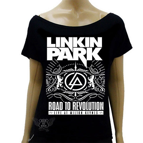 Blusinha de Ombro Caído Linkin Park