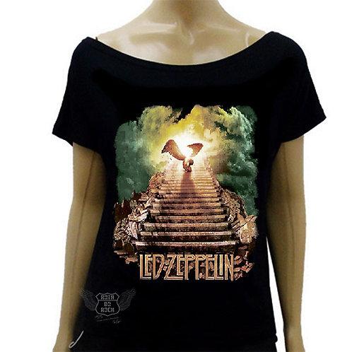 Blusinha de Ombro Caído Led Zeppelin Stairway To Heaven