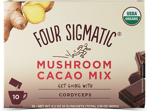 Four Sigmatic Mushroom Cacao Mix Get Going with Cordyceps 10 x 6g