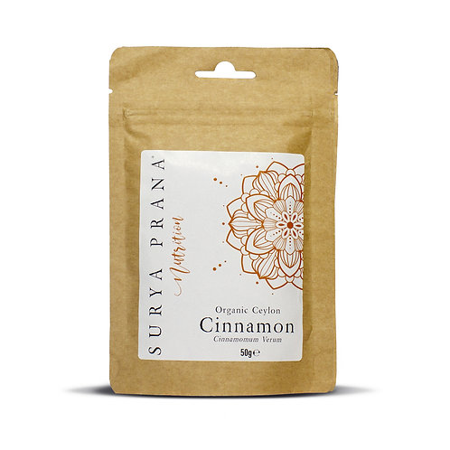 Surya Prana Nutrition  Organic Ceylon Cinnamon 50g