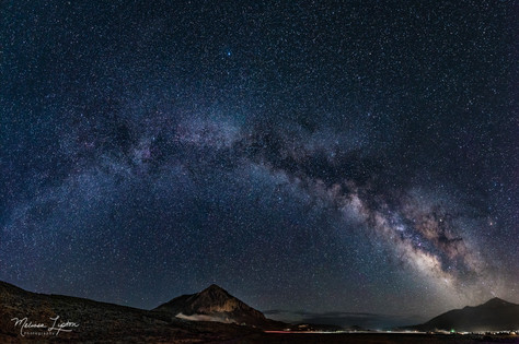 Milky Way over Crested Butte Mountain -