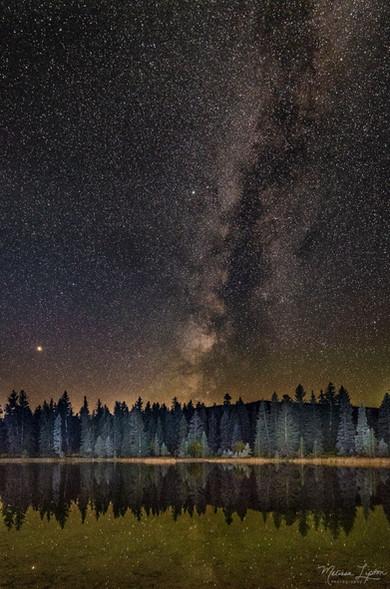 Milky Way Over Still Water