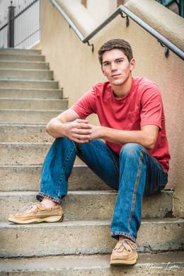 Senior Photo on Steps