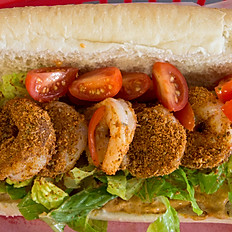 Spicy Cajun Po Boy Sandwich