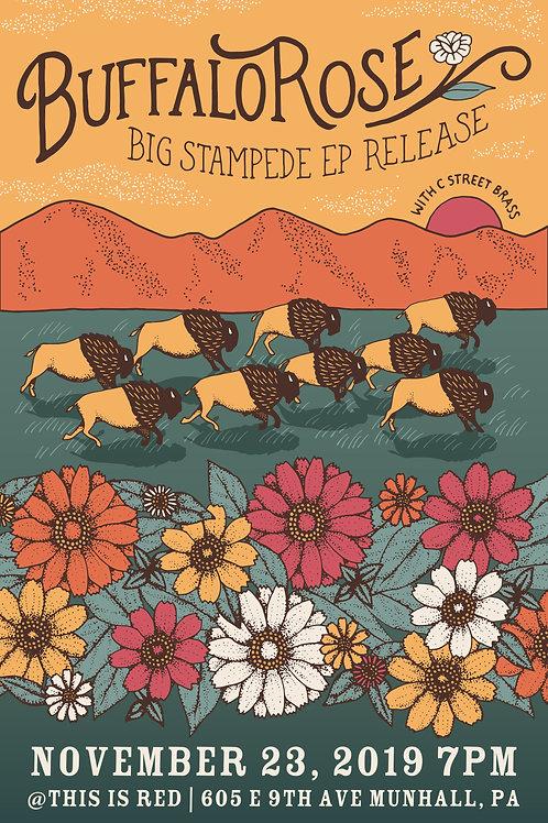 Big Stampede Release Show Poster