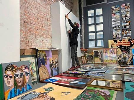 Downtown Pittsburgh art gallery Blaqk House won't let vandalism stop exhibit
