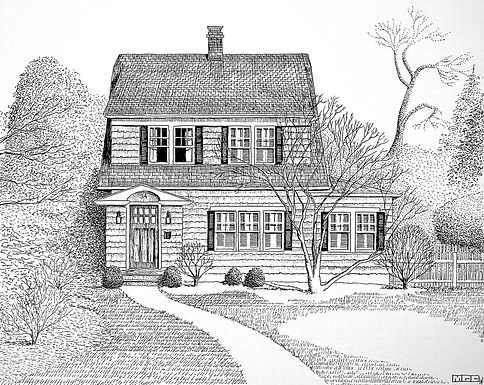 Pen and Ink Home Portraits