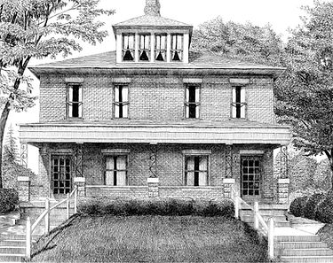 Pen and Ink house, 11x14 Columbus, OH