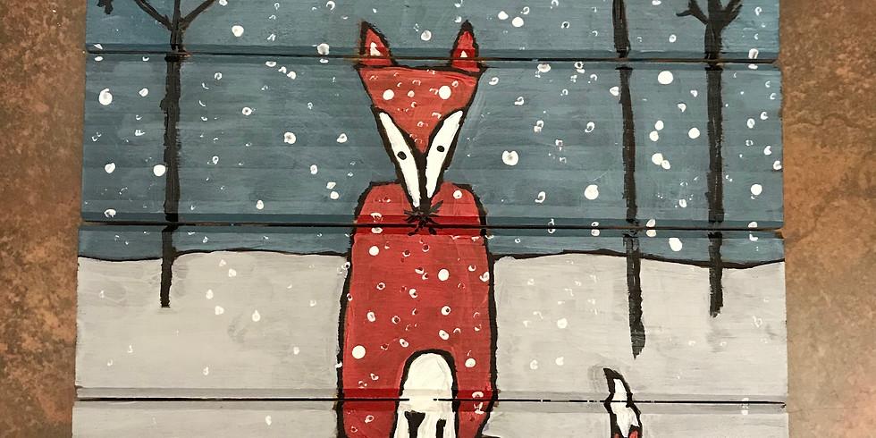 Kids' Pallet Painting Class:  Winter Fox