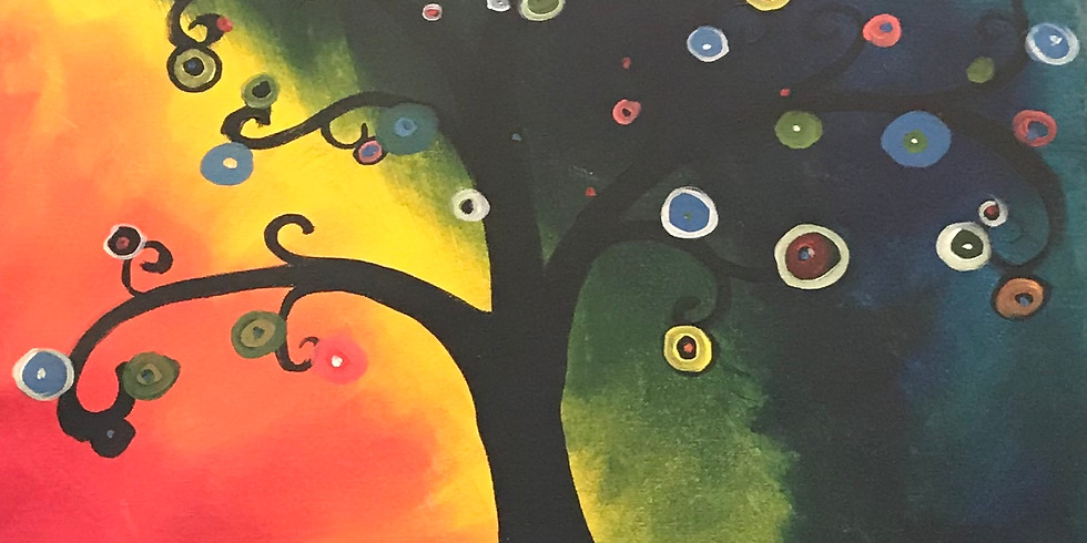 Canvas Painting Class:  Psychedelic Tree