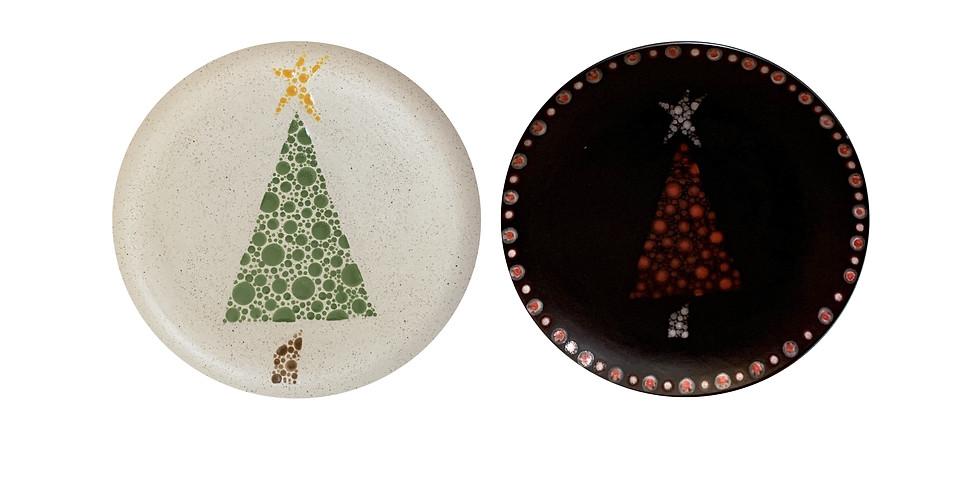 Pottery Painting Class: Xmas Tree Plate