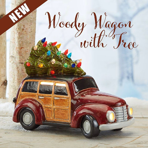 Woody Wagon with Tree, 10-inch (Light-up)