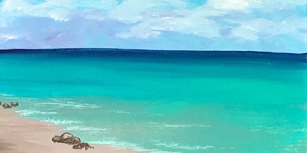 Canvas Painting Class:  Flip Flops Beach