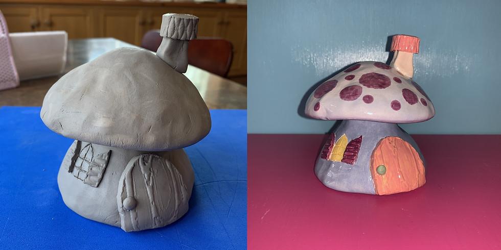 Adult & Child Clay Class: Mushroom House