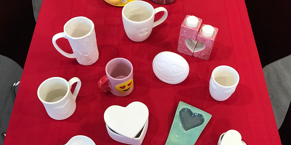 Valentines Date Night:  Pottery & Cupcakes