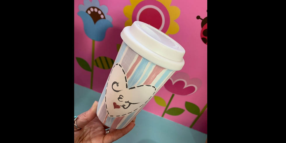 Pottery Painting Class: Valentines Date! Travel Tumblers