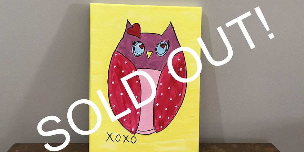 Kids' Canvas Painting Class:  Owl Be Yours