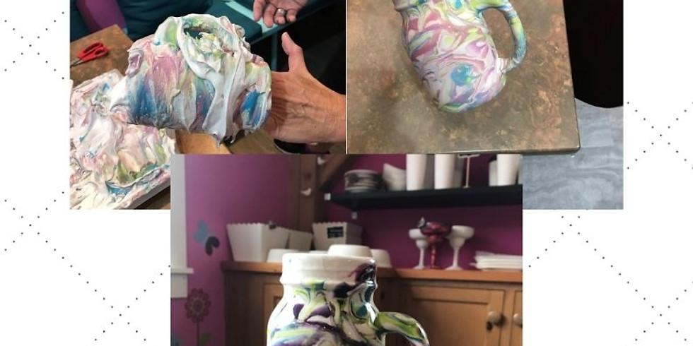 Ladies Night:  Pottery Marbling Technique