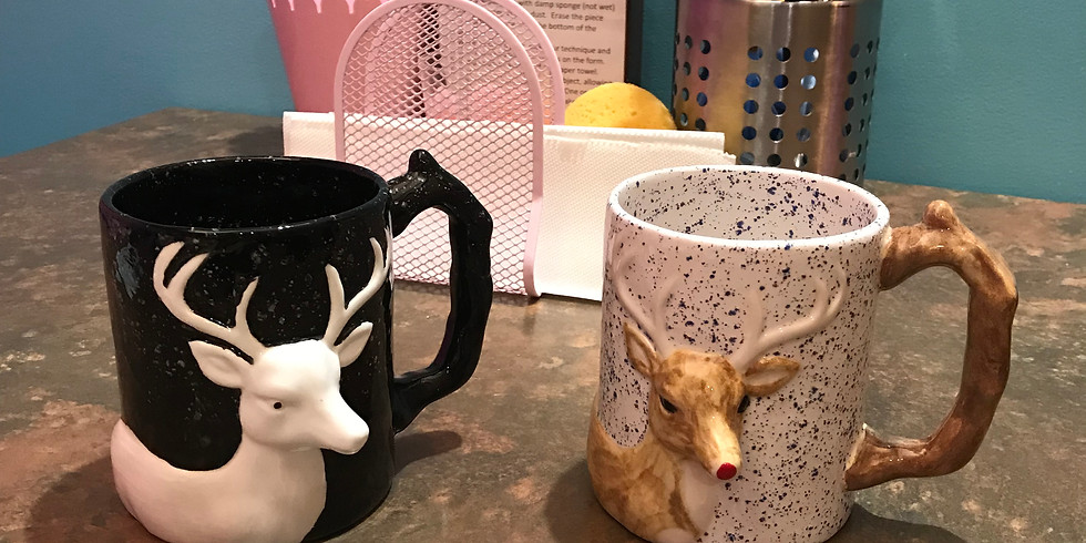 Rudolph the Red-Nosed Reindeer Mug Painting Party