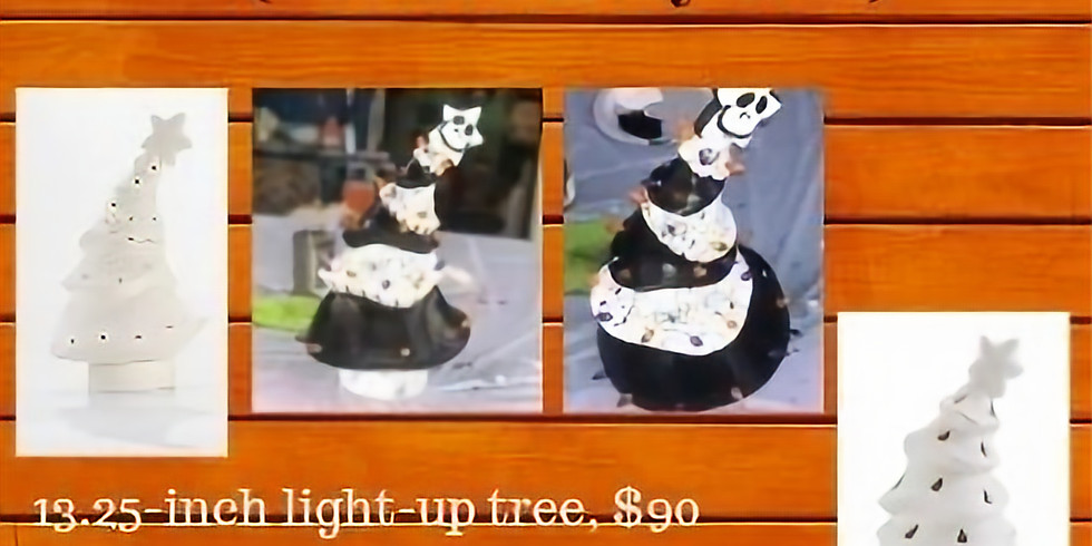 Halloween Tree Party!  Light-Up Pottery Tree or Votive