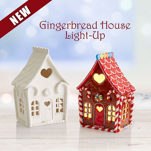 Gingerbread House, 9-inch (Light-up)