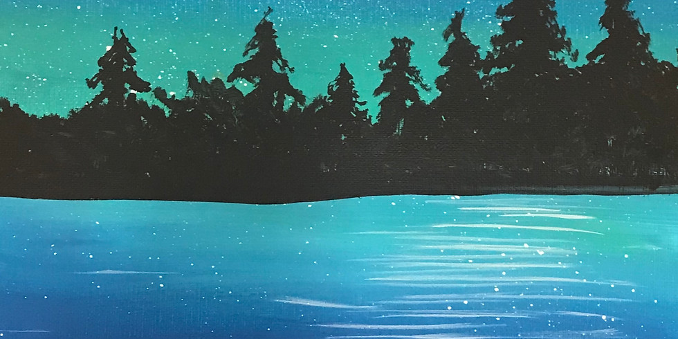 Canvas Painting Class:  Moon Lake