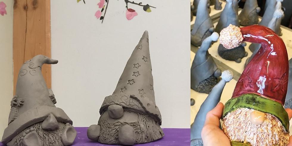 Clay Handbuilding Class:  'Sup Gnomies?