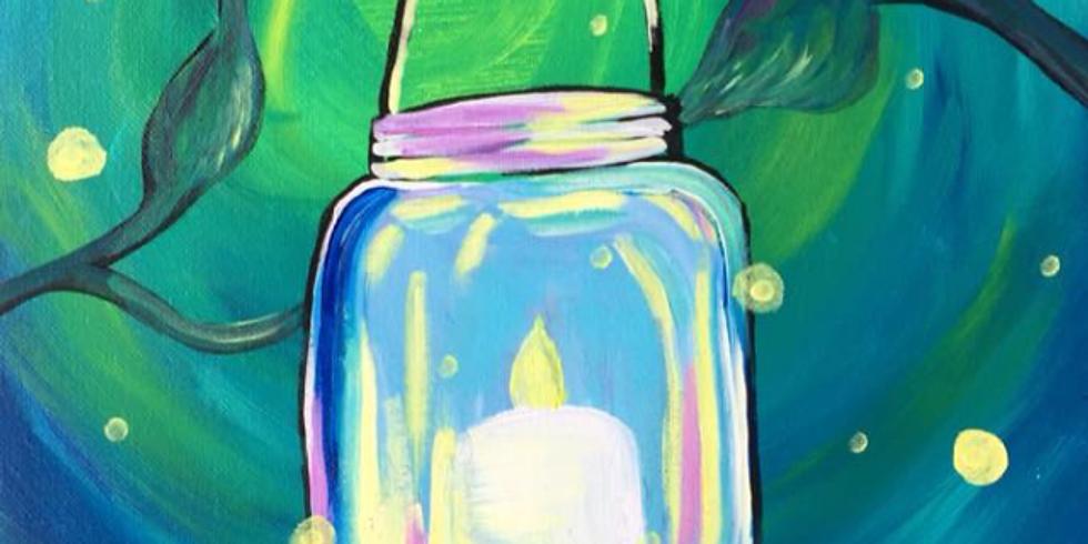 Canvas Painting Class:  Mason Jar Light