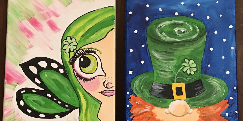 Kids' Canvas Painting Class:  Leprechauns!