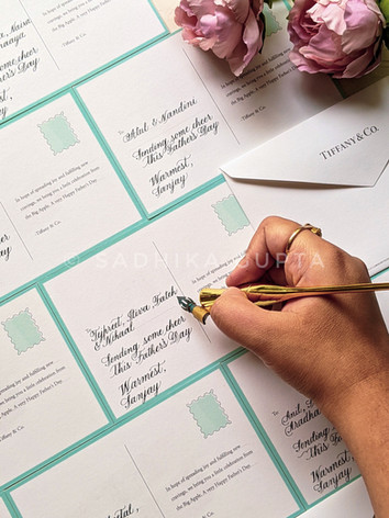 Notecards for Tiffany & Co.