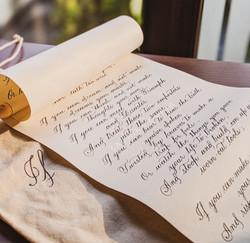 Calligraphed Poem