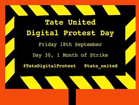Tate United Digital Protest Day No. 3