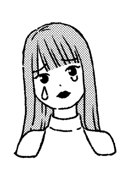 泣き泣き女