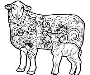 Caroline Freese sheep decal