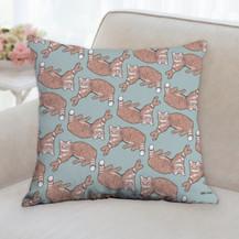 Tiger Cat Pattern Pillow