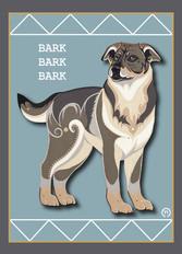 Barkbarkbark Note Card