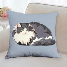 Fluffy Cat Pillow
