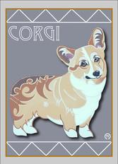 Corgi Note Card