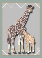 Giraffes Note Card