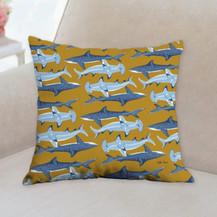 Shark Pattern Pillow