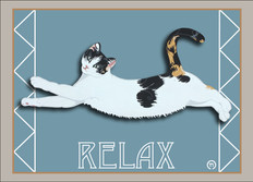 Relax Cat Note Card