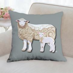 Ewe and Lamb Pillow