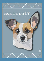 Dog Squirrel Note Card