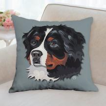 Bernese Face Pillow