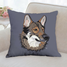 Tamaskan Face Pillow