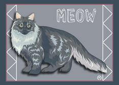 Fluffy Cat 2 Note Card