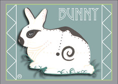 Bunny Note Card